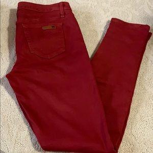 Joe's Jeans skinny maroon/red pants